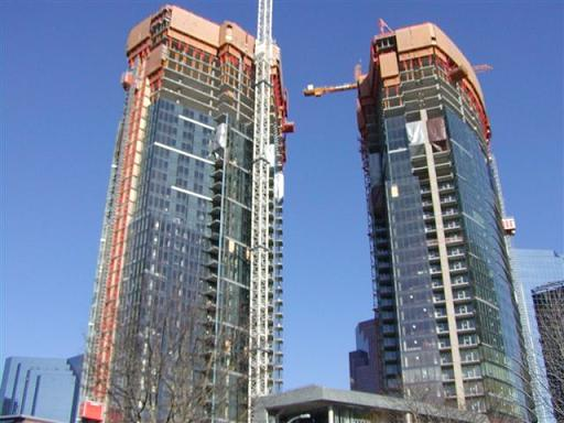 Bellevue Towers in Bellevue, WA before completed