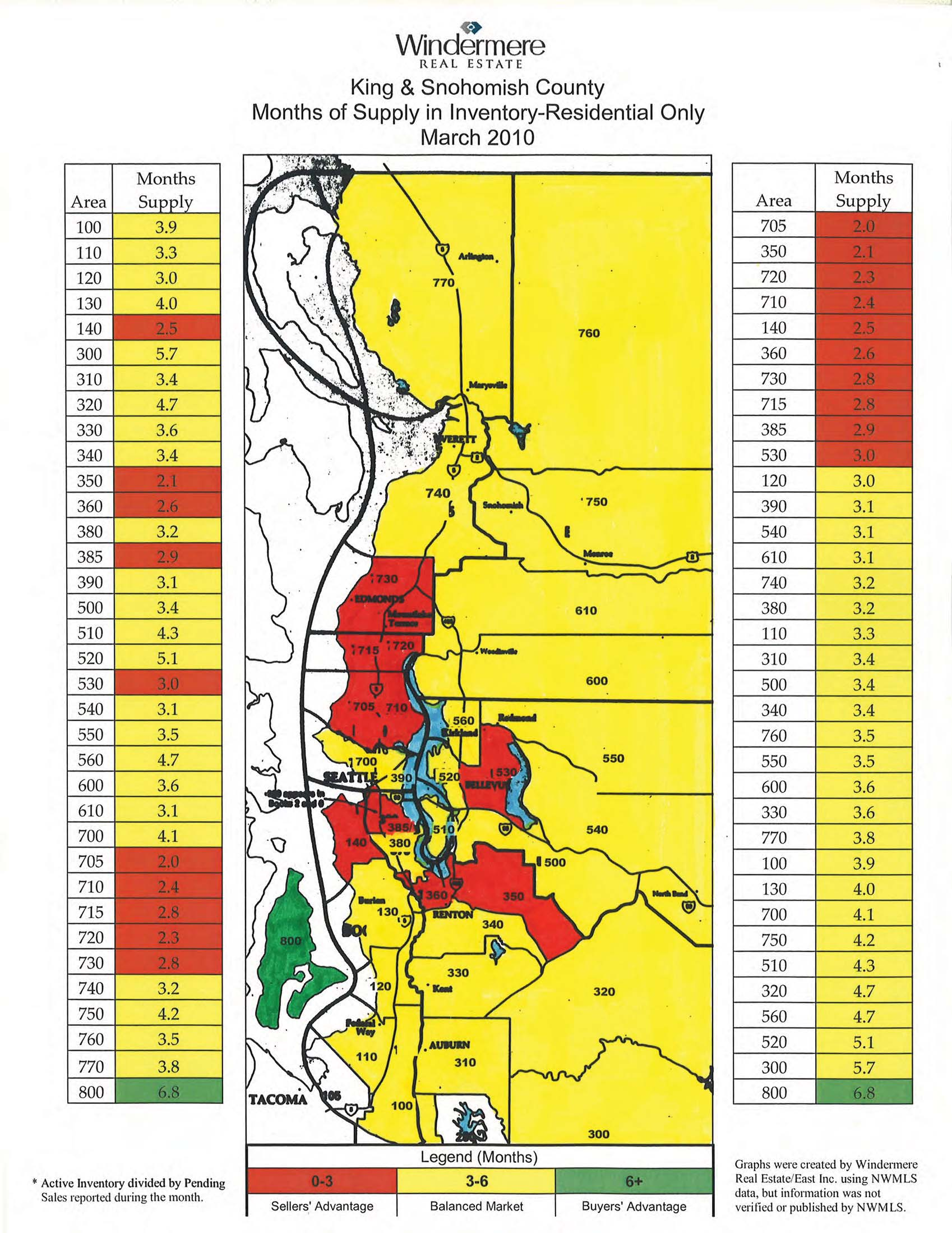 Map showing which areas are selling faster in King and Snohomish Counties